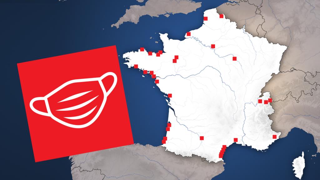 Quelles sont les villes de France où le masque est obligatoire en extérieur ?