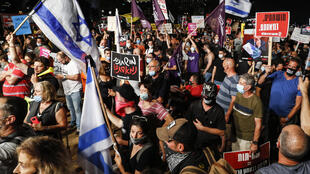 Protesters in Tel Aviv sprayed pepper spray at police, leading to multiple arrests