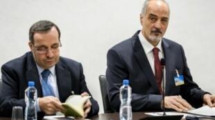 رئيس وفد الحكومة السورية إلى مفاوضات جنيف بشار الجعفري