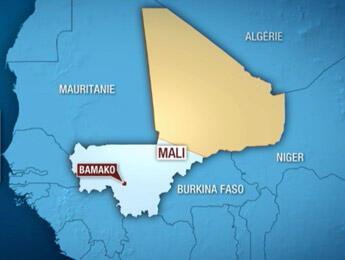 Zone aux mains des groupes indépendantistes et islamistes au Mali