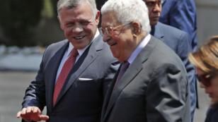 Le président de l'Autorité palestinienne Mahmoud Abbas a accueilli lundi 7 août 2017 le roi Abdallah de Jordanie à Ramallah.