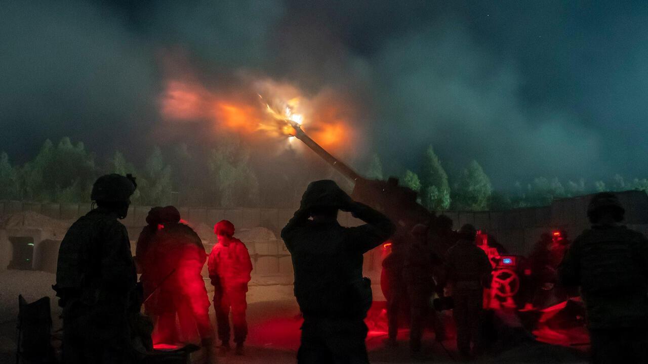 Operativos de combate del Ejército de Estados Unidos en Afganistán, el 20 de diciembre de 2018.