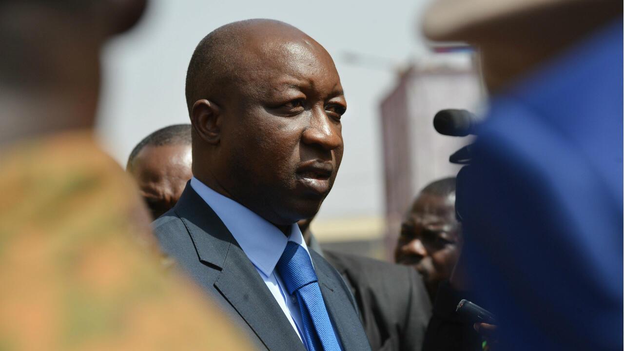 Le Premier ministre Paul Kaba Thieba à Ouagadougou, le 17 janvier 2016.