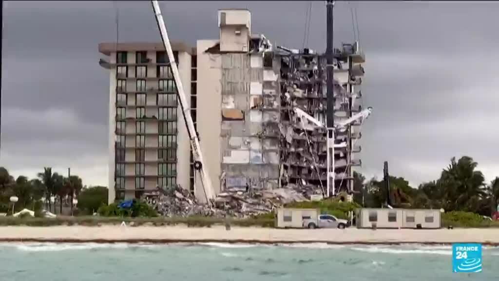 2021-07-01 15:13 Immeuble effondré en Floride : au moins 18 morts, encore plus de 140 disparus