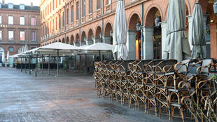 Place Capitole in Toulouse appeared deserted early on March 15, 2020.