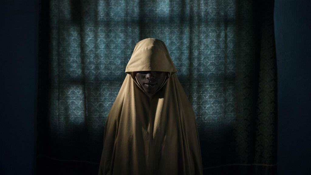 Aisha, una joven víctima del secuestro por el grupo Boko Haram, el 21 de septiembre de 2017.