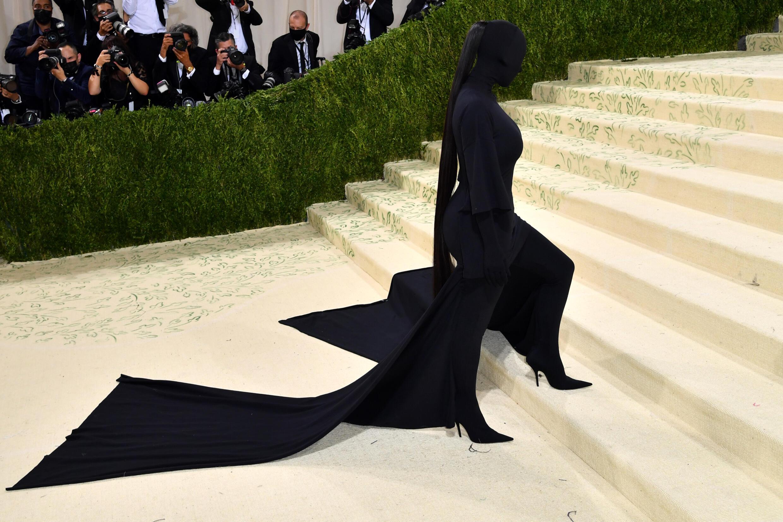 La estrella de telerrealidad Kim Kardashian en la Gala del Museo Metropolitano de Arte el 13 de septiembre de 2021