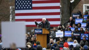 Bernie Sanders, samedi 2 mars à Brooklyn, lors de son premier meeting politique pour la présidentielle de 2020 aux États-Unis.