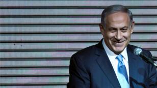 Archivo: El primer ministro israelí, Benjamin Netanyahu, durante un discurso ante sus partidarios en la sede del partido Likud, en Tel Aviv, Israel, el 18 de marzo de 2015.