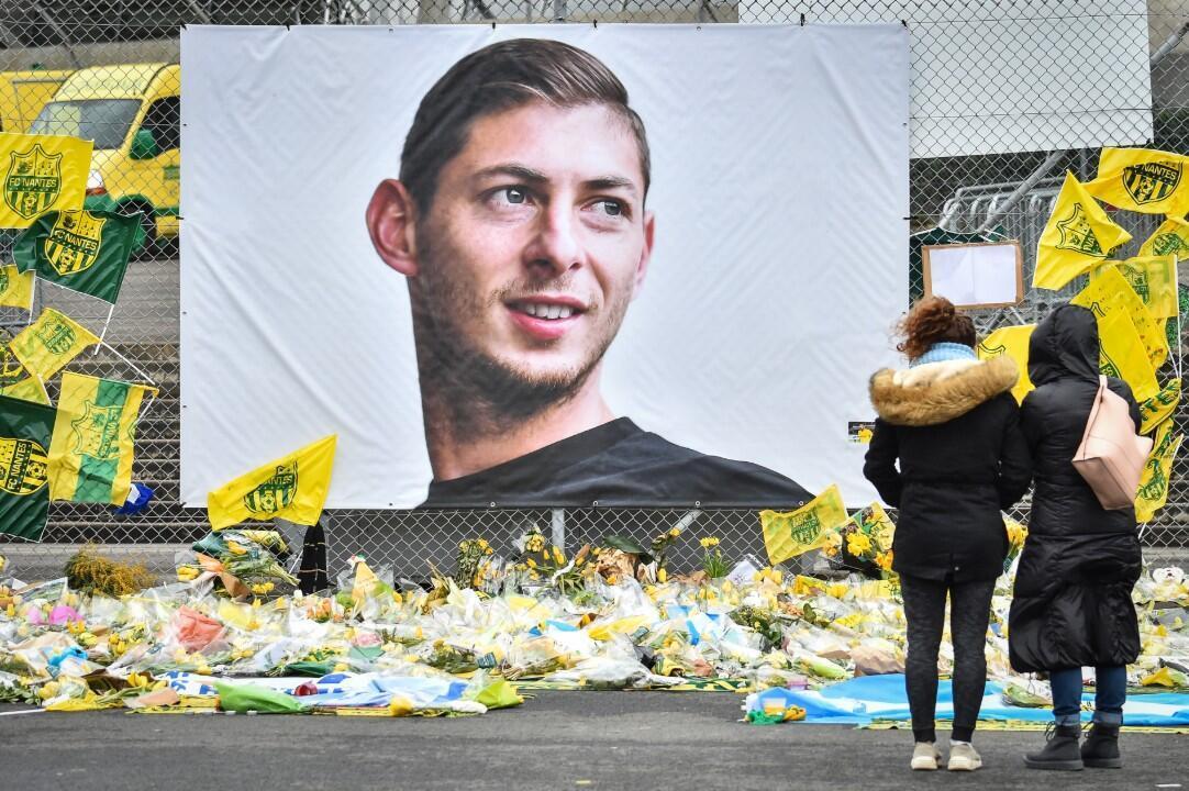 L'hommage au stade de la Beaujoire du FC Nantes à Emiliano Sala.