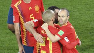 La Roja est allée chercher le nul contre le Maroc, le 25 juin 2018, et prend la première place du groupe B.