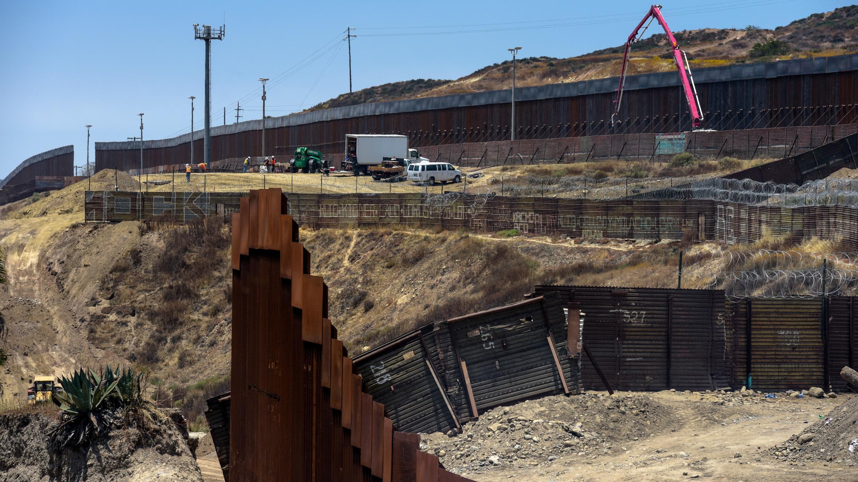 La construction d'un mur à la frontière mexicaine est une promesse de campagne de Donald Trump.