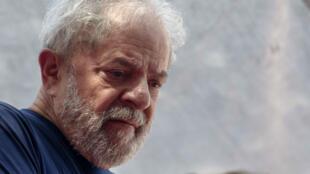 L'ancien président brésilien Lula, le 24 avril 2017.