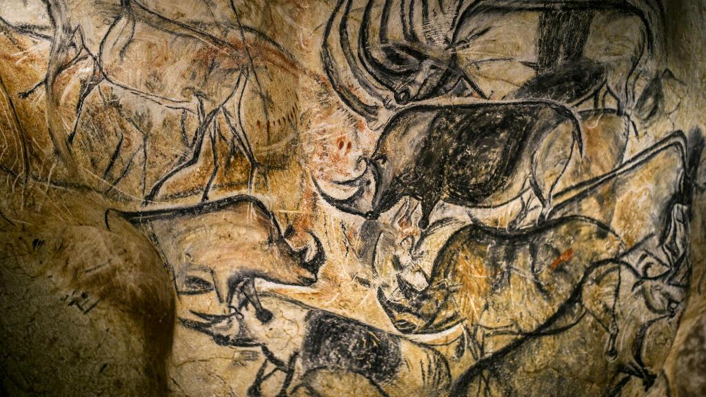 Une fresque de la Caverne du Pont d'Arc, qui ouvrira ses portes au public le 25 avril
