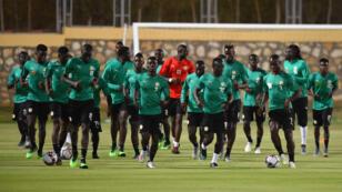 Le Sénégal s'entraîne au Caire avant leur match dimanche 23 juin contre la Tanzanie.