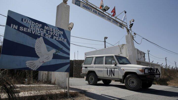 Un véhicule de l'ONU dans le Golan, le 30 août 2014.