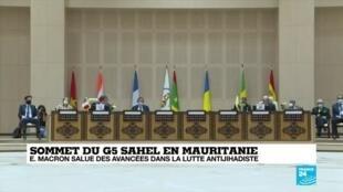 2020-07-01 10:08 Sommet du G5 Sahel : Emmanuel Macron salue des avancées dans la lutte antijihadiste