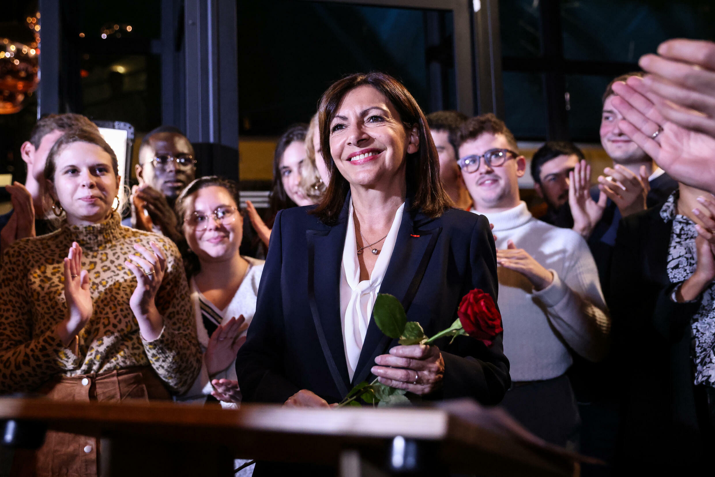 Paris Mayor Anne Hidalgo won more than 72 percent of votes from Socialist members to become the party's presidential candidate