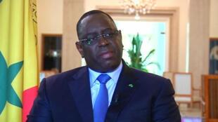 Le président sénégalais Macky Sall, interrogé par France 24.