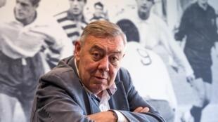 Eric de Cromières lors d'une conférence de presse au stade Marcel-Michelin à Clermont-Ferrand le 29 mai 2019.