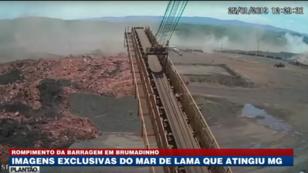Des images de caméras de sécurité montrent le moment exact de la rupture du barrage de Brumadinho au Brésil.