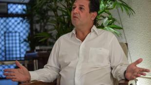 El exministro brasileño de Salud Luiz Henrique Mandetta, en entrevista con la AFP en Sao Paulo el 18 de junio de 2020