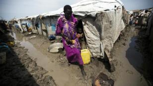 Un camp de protection des civils (POC) à Malakal, le 14 juillet 2016.