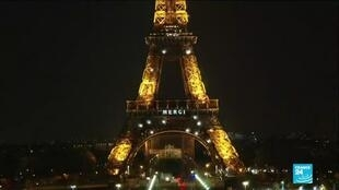 2021-02-04 10:11 Going for gold: Eiffel Tower gets Olympic facelift
