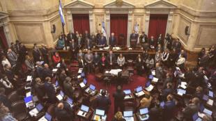 Le Sénat argentin à Buenos Aires, le 8 août 2018.