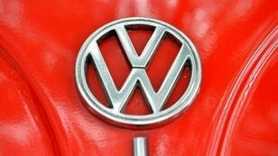 """The Volkswagen logo is seen on the bonnet of vintage Beetle. Mexican farming communities accused VW of """"arbitrarily"""" provoking a drought in Puebla state to protect newly manufactured cars from hail"""