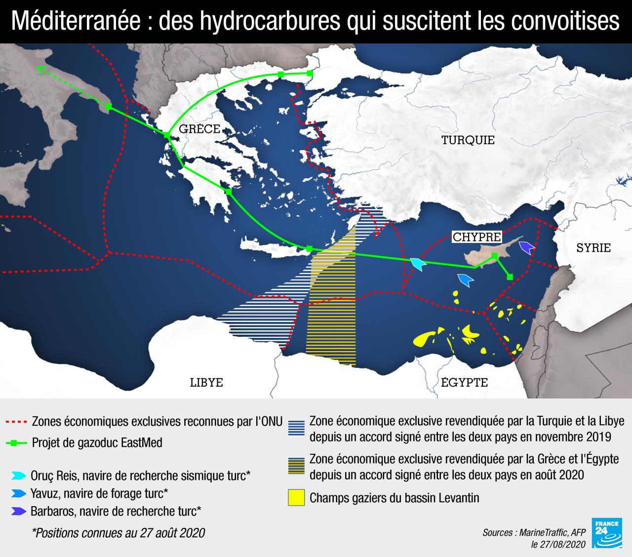 Méditerranée : des hydrocarbures qui suscitent les convoitises
