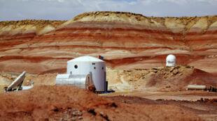 La station de recherche de la Mars Society, dans le désert de l'Utah, dans laquelle vont séjourner les designers d'Ikea.