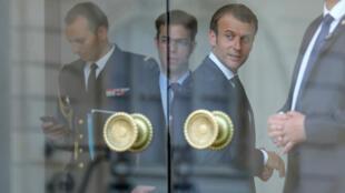 Imagen de archivo. El presidente francés Emmanuel Macron en el Elíseo. París, 28 de mayo de 2018.
