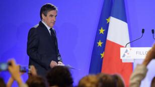 François Fillon s'est exprimé à la mi-journée depuis son QG de campagne.