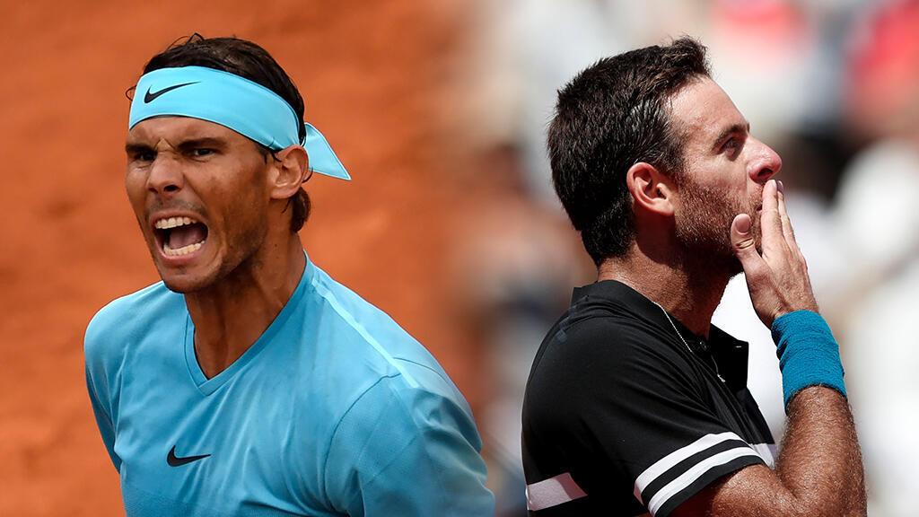 Con Nadal y del Potro, el Roland Garros entra en su recta final.