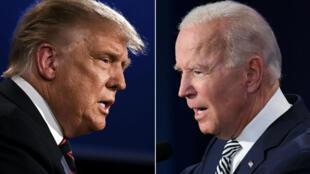 US President Donald Trump and Democratic challenger Joe Biden.