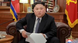 El líder norcoreano Kim Jong Un se dirige a la nación en su mensaje de año nuevo. 1 de diciembre de 2019.