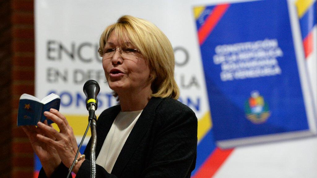 Luisa Ortega lors d'un rassemblement de l'opposition le 6 août à Caracas.
