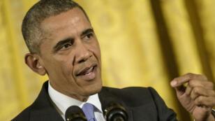 Le président américain, Barack Obama, lors de la conférence de presse consacrée à l'accord sur le nucléaire iranien, le 15 juillet 2015.