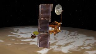 La sonde Mars Odyssey en orbite. Image d'illustration.