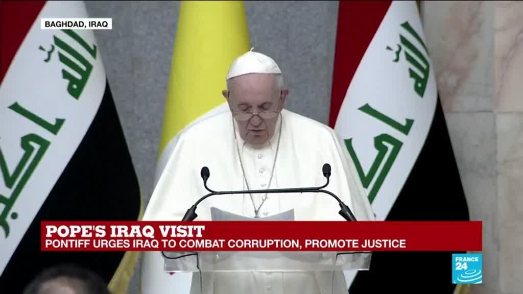 2021-03-05 14:11 REPLAY: Pope hails 'long-awaited' trip to Iraq, 'a cradle of civilisation'