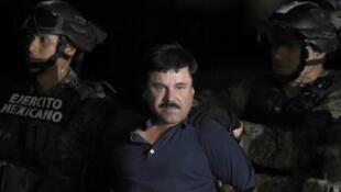 Le baron mexicain de la drogue capturé après six mois de cavale, en janvier 2016.