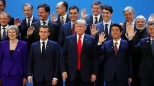 قادة العالم خلال قمة دول مجموعة العشرين في الأرجنتين 30 تشرين الثاني/نوفمبر 2018