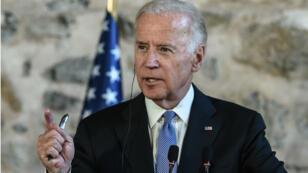 Le vice-président américain Joe Biden, lors d'une conférence de presse à Istanbul, le 23 janvier 2016.