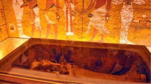 Vista del interior de la tumba de Tutankamón, el faraón más conocido de Egipto, este jueves 31 de enero en Luxor, en el sur de Egipto.