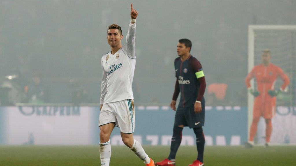 Cristiano Ronaldo celebra la anotación de su primer gol.