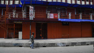 Shops were closed on March 27 in Lagos, Nigeria, as the country sought to curb the spread of the COVID-19 coronavirus.