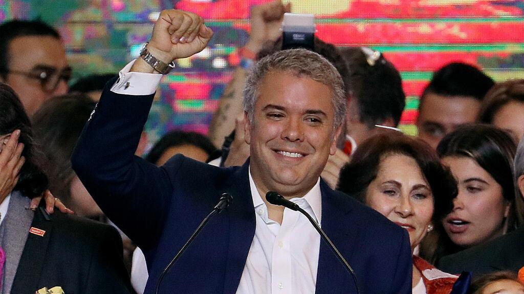 Imagen de archivo. El presidente electo de Colombia, celebra los resultados de la segunda vuelta que le dieron la victoria. Bogotá, Colombia, el 17 de junio de 2018.
