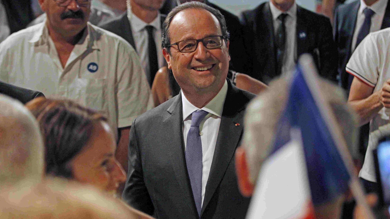 François Hollande a répondu à Donald Trump jeudi 28 juillet depuis Rivesaltes, dans le sud de la France.