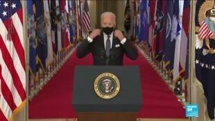 2021-03-12 10:01 Covid-19 aux États-Unis : Joe Biden prévoit un retour à la normale pour le 4 juillet